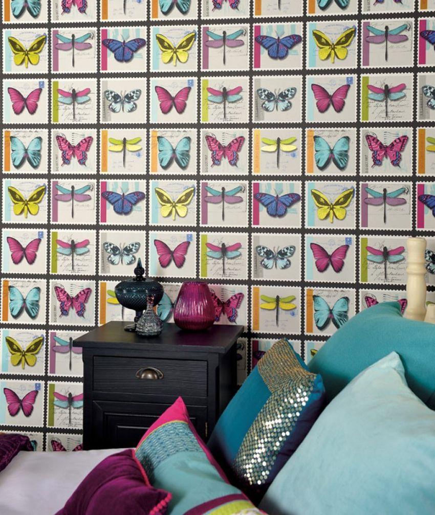 Papel de parede no quarto 5