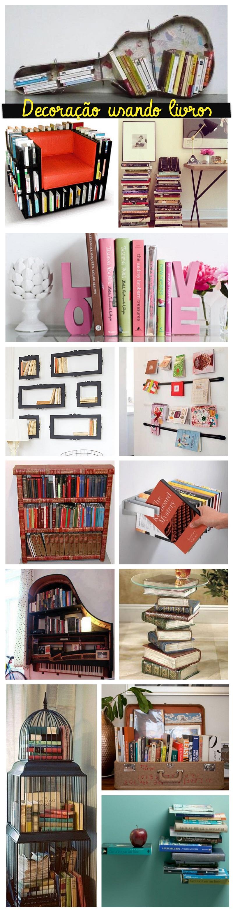 Decoração Usando Livros