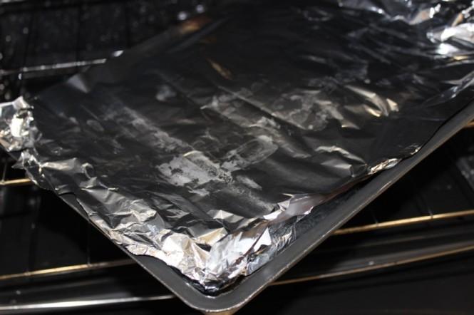 Salmão no forno e no alumínio