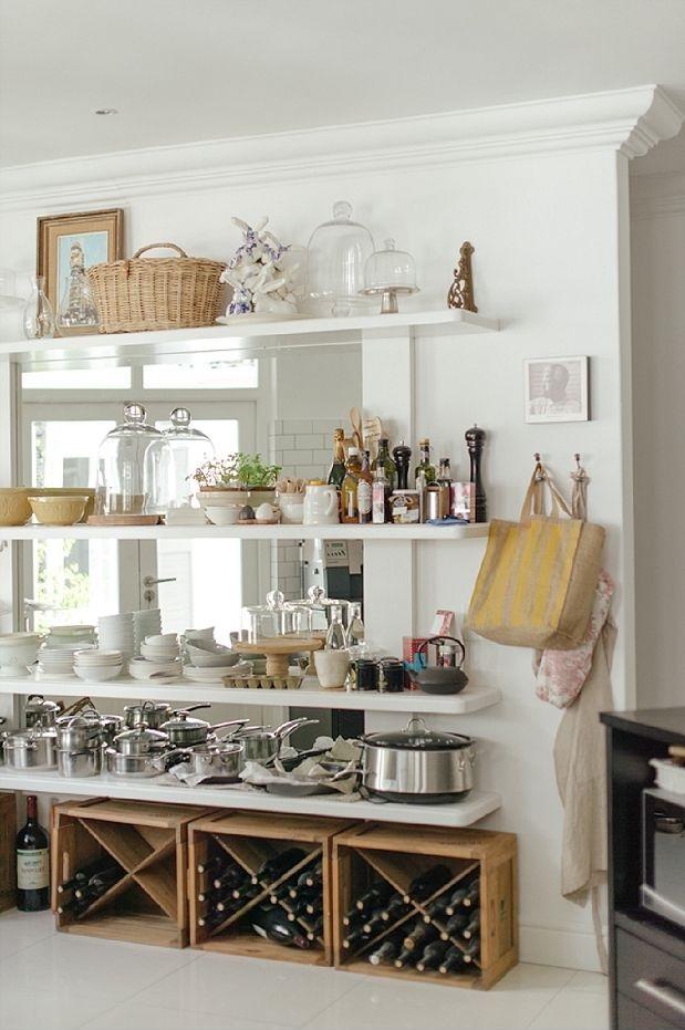 Como montar uma cozinha sem arm rio vida de casada - Ideas para decorar armarios ...