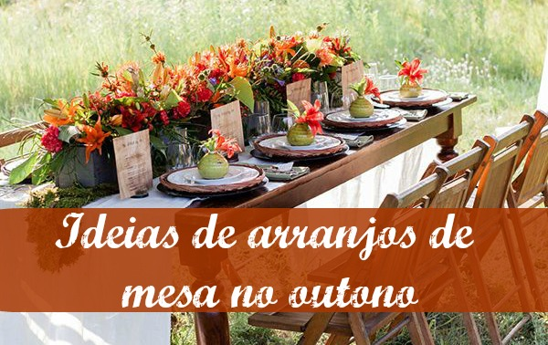 Um móvel e tr u00eas opções de decoraç u00e3o Vida de Casada -> Decoração Festa Folhas De Outono