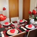 Mesa posta: Jantar dia dos namorados