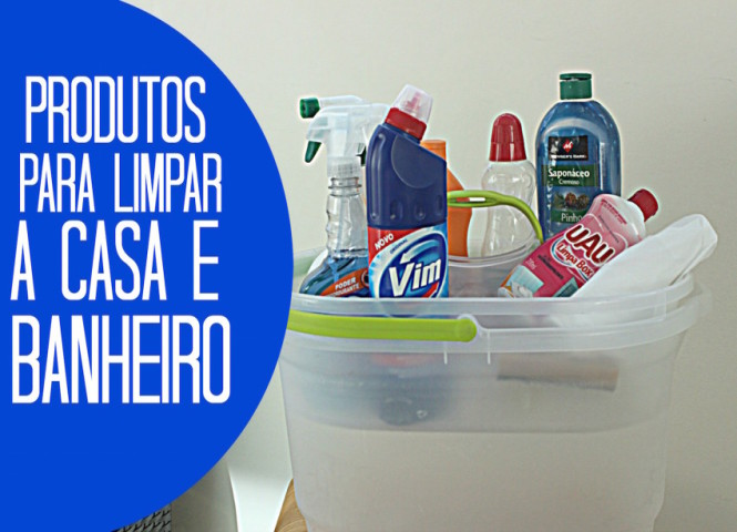 Capa - Produtos para limpar banheiro e a casa