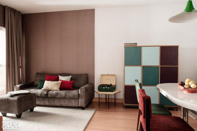 Dicas ideias e truques de decora o de sala de estar for Sala de estar com papel de parede 3d