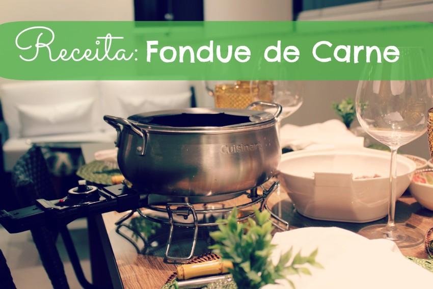 Receita fondue de carne água