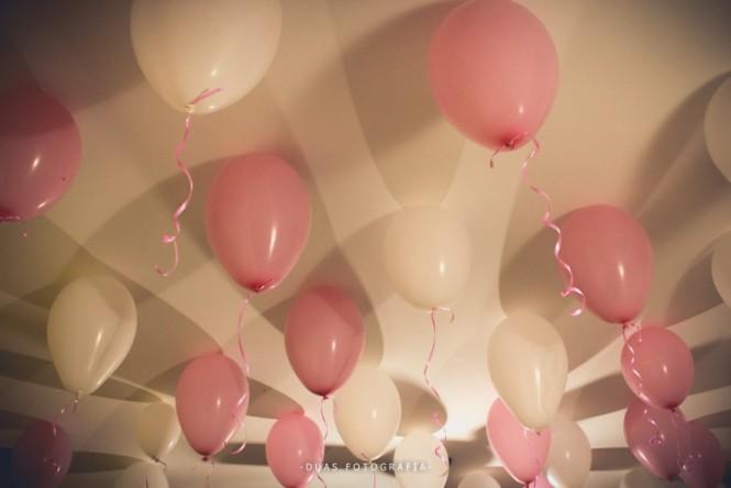 Balões de decoração do chá de lingerie