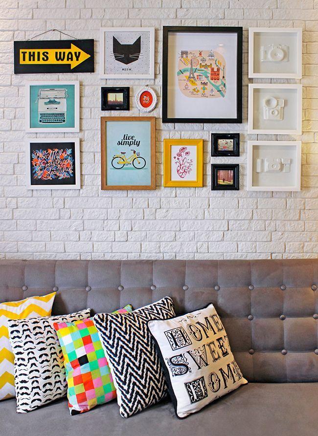 Sala De Estar Com Quadros ~  , ideias e truques de decoração de sala de estar  Vida de Casada