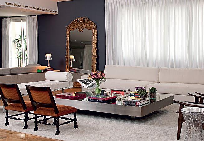 sala de estar espelho