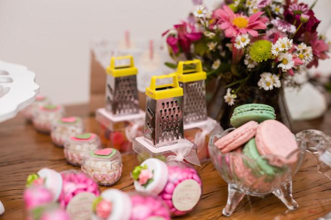 decoração de chá de panela verde e rosa (44)