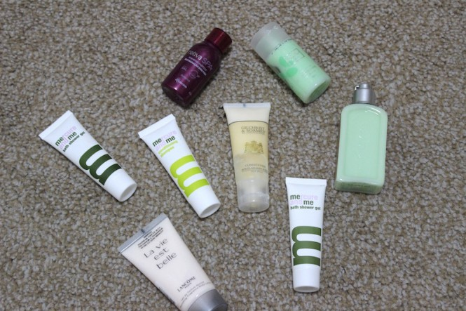 shampoo em miniatura