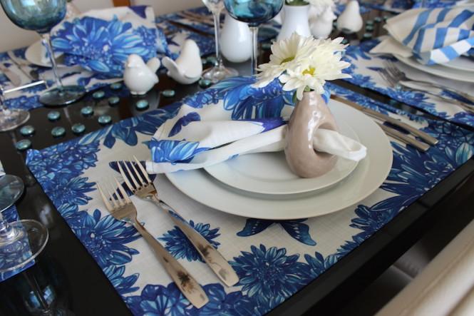 Decoração de mesa para almoço