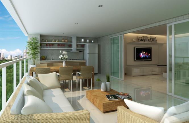 Varanda gourmet em apartamentos dicas de decora o for Sala de estar gourmet
