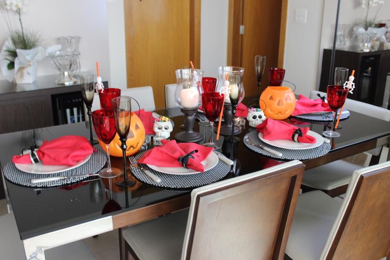 decoração de mesa de halloween