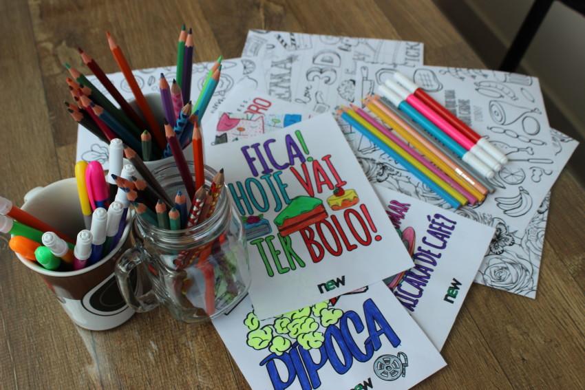 posters para colorir