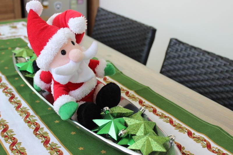 cantro de mesa de natal