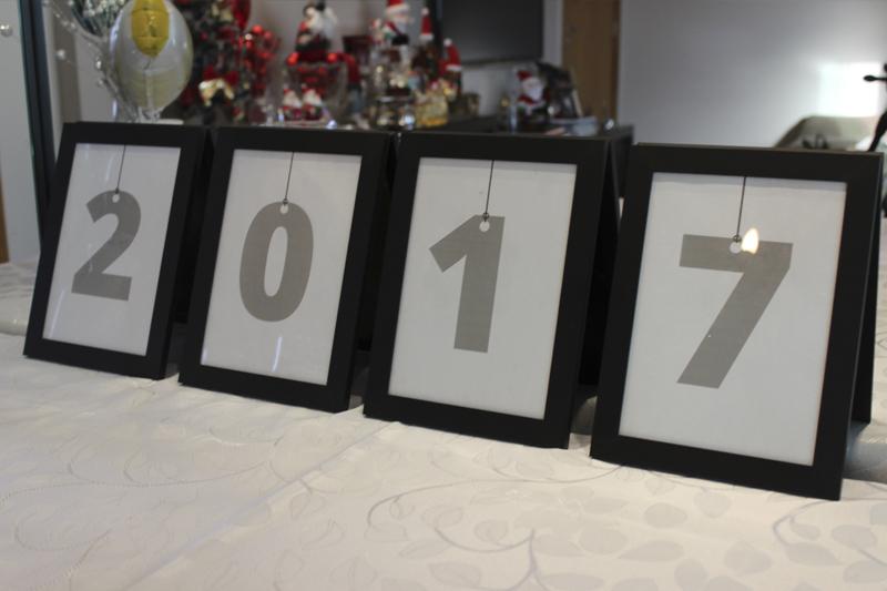 decoracao de ano novo quadros com ano