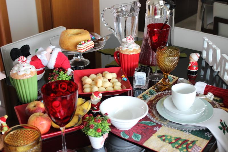decoracao de mesa de natal cafe da manha