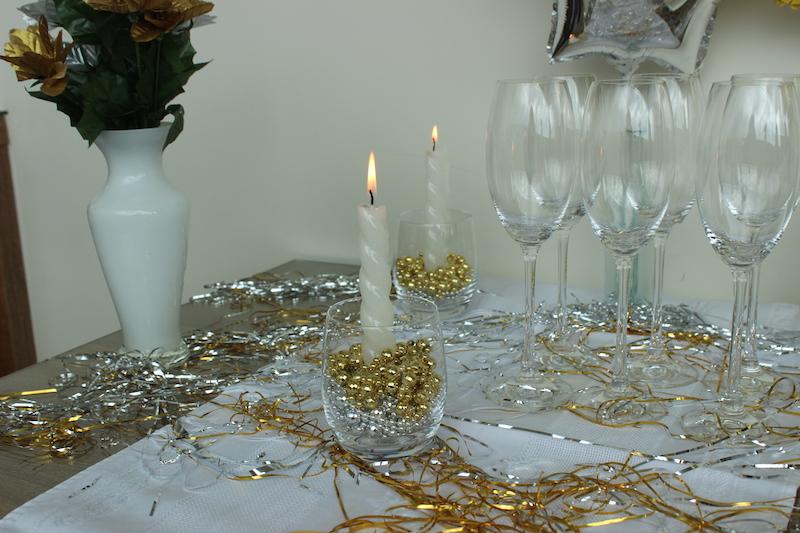 Decoraç u00e3o de ano novo e menu para a ceia Réveillon  -> Decoração De Ano Novo Simples E Barata