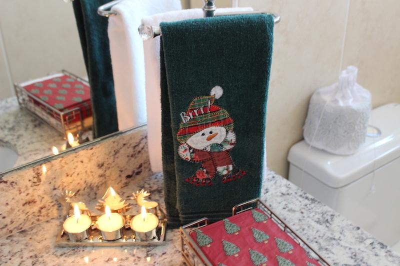 toalha de boneco de neve