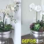Reformando o meu arranjo de flor artificial