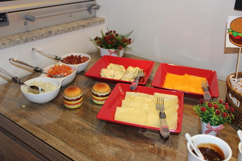 comidas para rechear o hamburguer