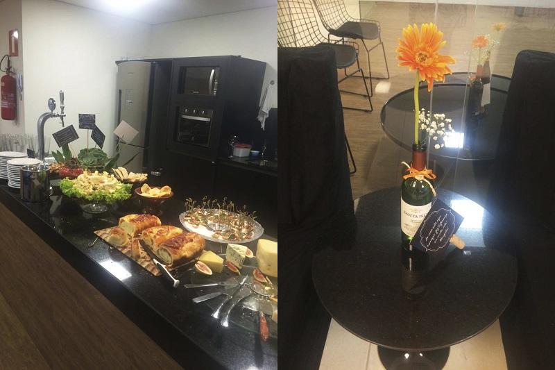 jantar festa 40 anos decoracao e comida