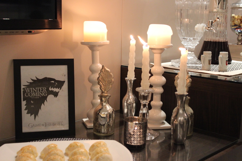 velas decoracao game of thrones