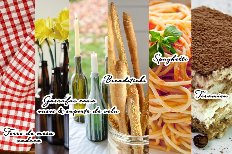 Dia dos namorados jantar italiano