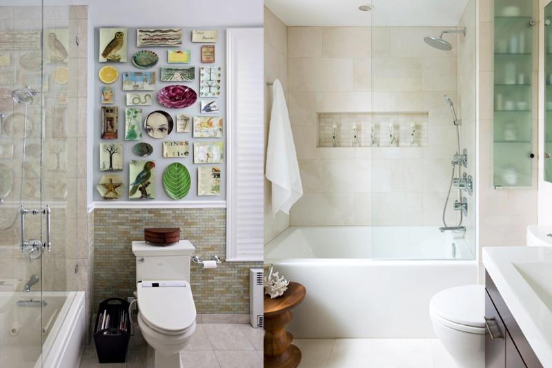 Decoração de Banheiro Pequeno  Dicas e truques!  Vida de Casada -> Banheiro Com Banheira E Dois Chuveiros