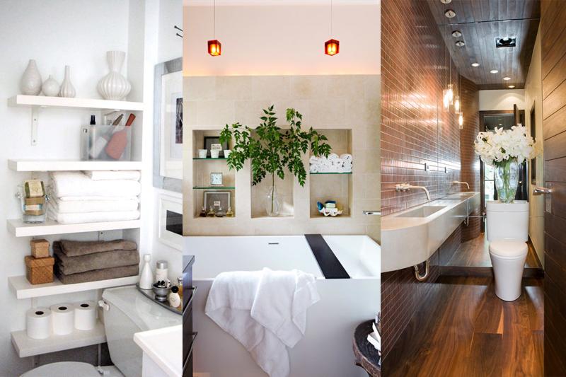 Decoração de Banheiro Pequeno  Dicas e truques!  Vida de Casada -> Decoracao De Banheiro Pequeno E Barato