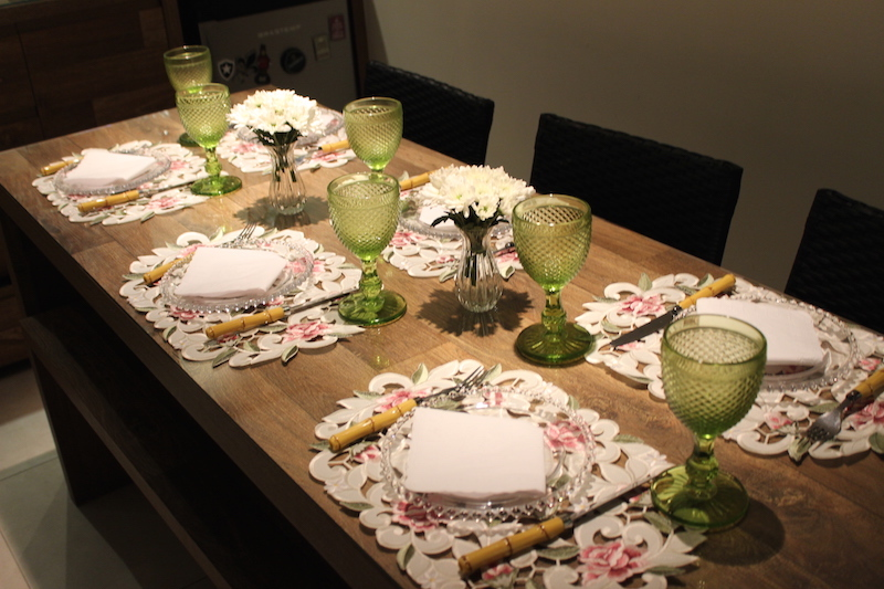 mesa guardanpo de papel bonita