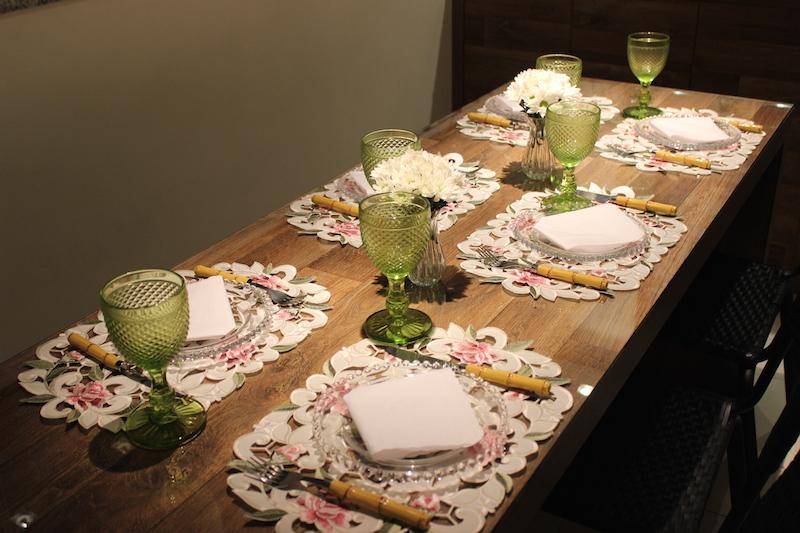 mesa informal guardanapo de papel