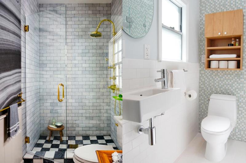Decoração de Banheiro Pequeno  Dicas e truques!  Vida de Casada -> Decoracao De Banheiro Com Ceramica Na Parede