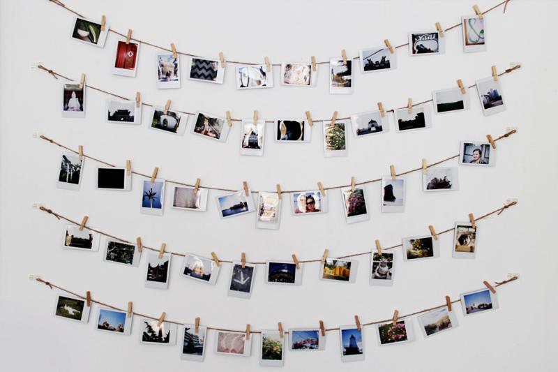 presente criativo para amiga varal fotos