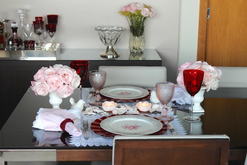 mesa posta jantar dia dos namorados