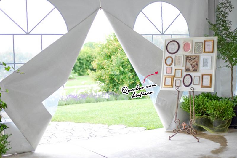 mini wedding quadro com historia