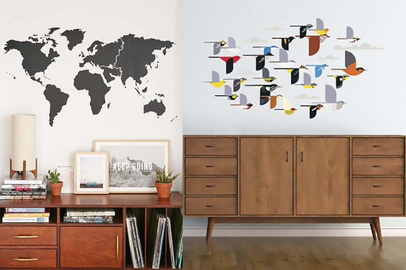decoracao de sala barata adesivos de parede