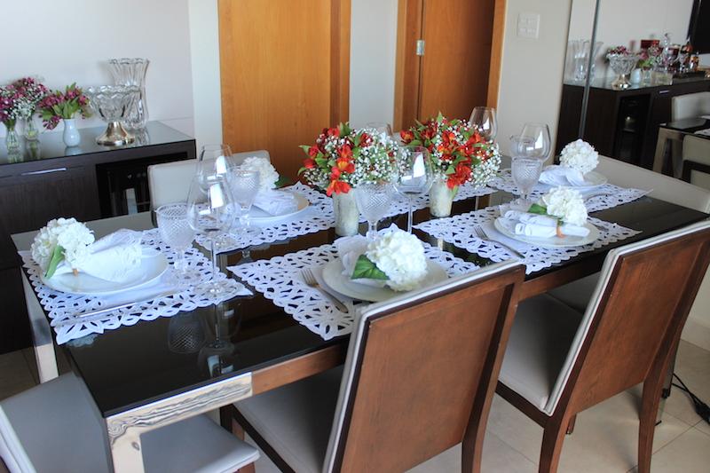 mesa posta branca