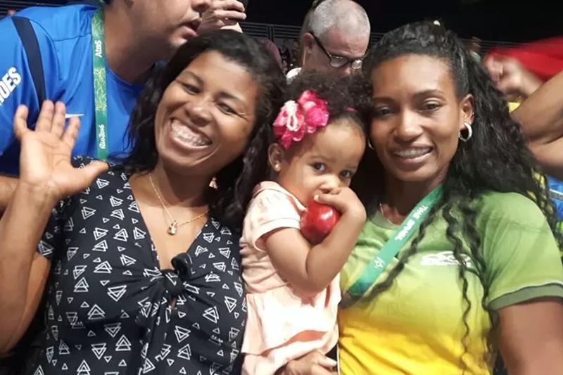 familias fofas das olimpiadas rio 2016 esposa robson conceicao