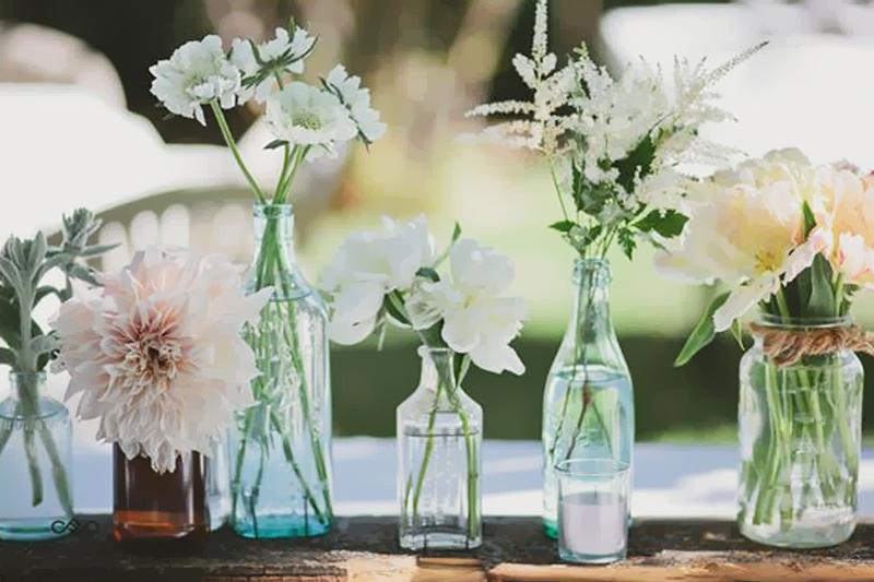 garrafas como vaso decoracao diy