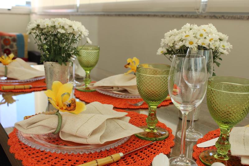 mesa de almoco