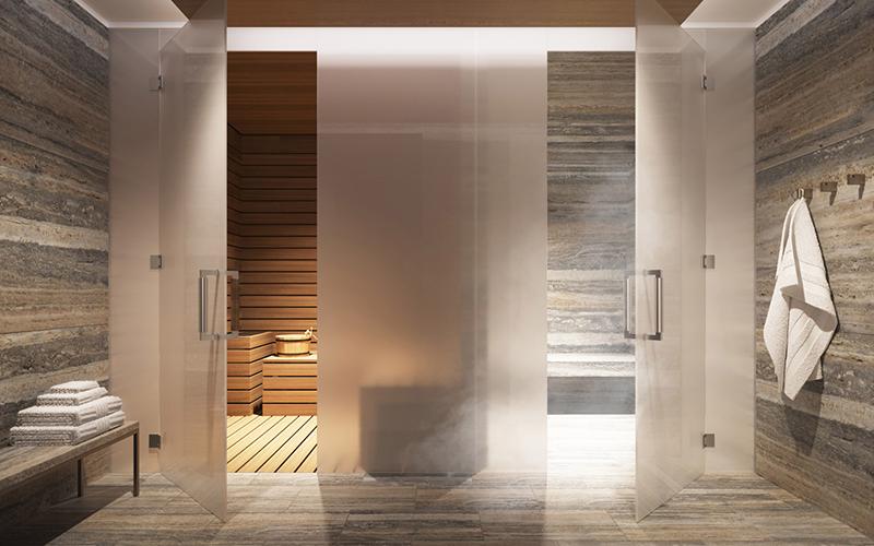tour pelo apartamento gisele sauna