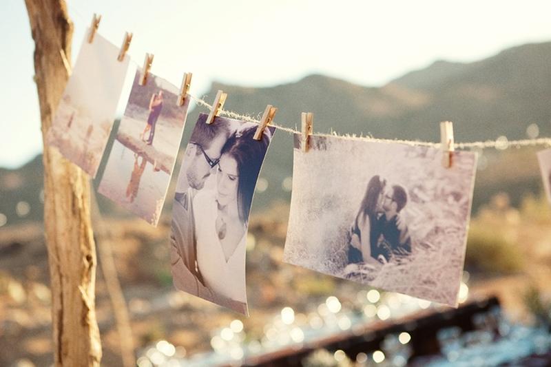 varal de fotos diy noivado