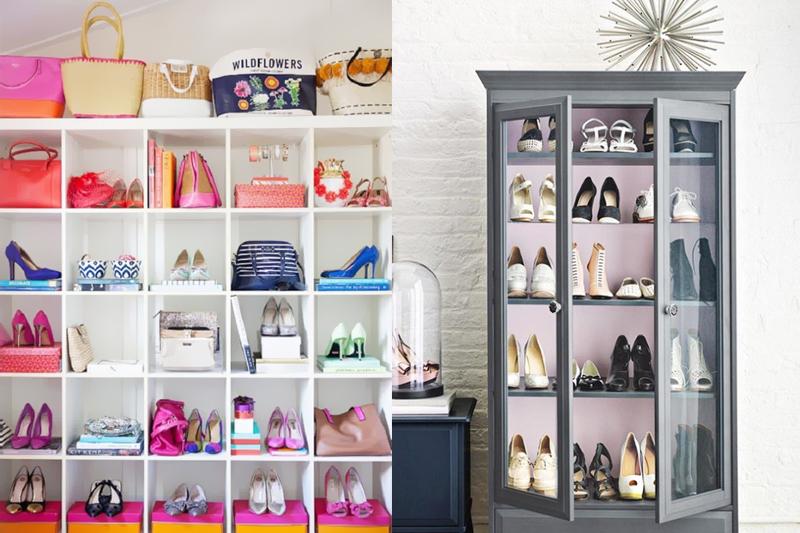 armarios e nichos organizar sapatos