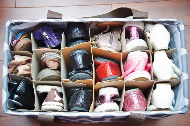 caixas de vinho organizar sapatos