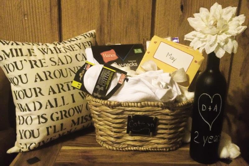 cesta de presente bodas de algodao
