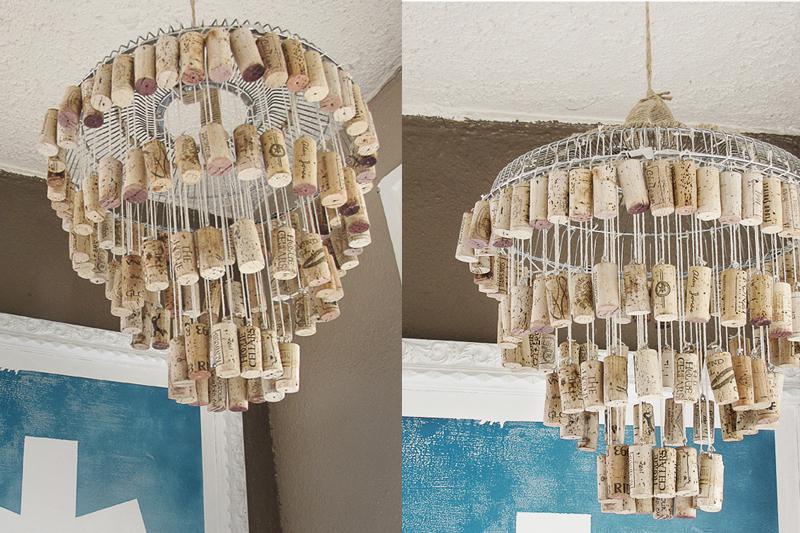 chandelier de rolha