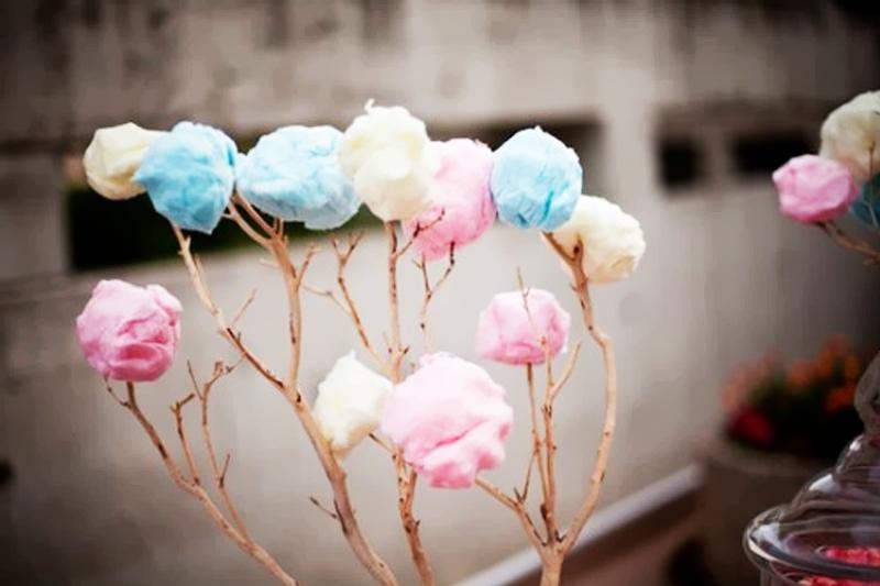 decoracao de algodao doce