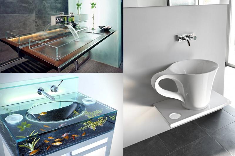 Ideias Inusitadas e Criativas para Decoração no Banheiro  Vida de Casada -> Ideias Criativas Para Pia De Banheiro