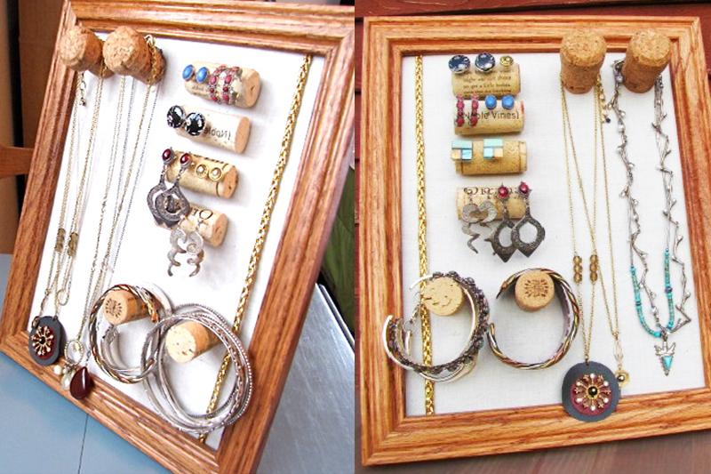 porta bijuteria de rolha